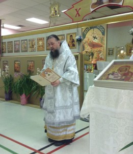 Пасхальная литургия. Чтение  Патриаршего послания.